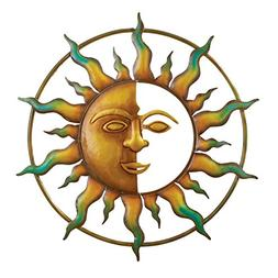 "Bronze Sun Wall Art, for Indoor or Outdoor Use, 18"" Round"