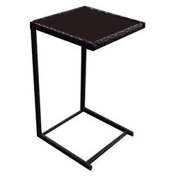 Tangkula Sofa Side Table, C-Shape Snack Table, Coffee Desk S