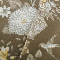 Brown/Multi Williamsburg Cotton Floral Print Decor Fabric, F