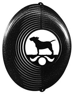 BULL TERRIER Circle Swirly Metal Wind Spinner