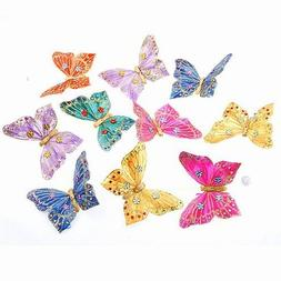 "Butterfly Garland with Glitter and Jewels 3.5x78""L"
