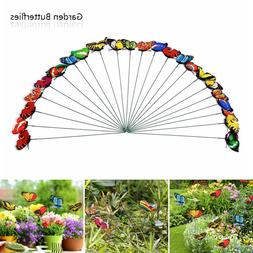 50 Butterfly Stakes Outdoor Yard Planter Flower Pot Bed Gard
