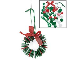 Button Wreath Ornament Craft Kit - Crafts for Kids & Ornamen