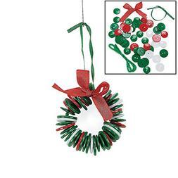 Button Wreath Ornament Craft Kit - Crafts for Kids & Ornamen