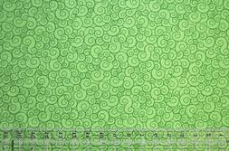By the 1/2 yard 100% cotton fabric Lime Green Garden curls s