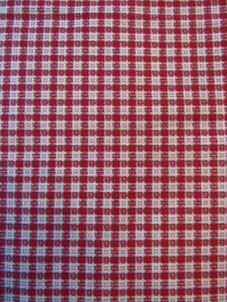 By-the-Yard French Country Red & Cream Check Cotton Fabric Q