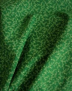 BY YARD Kelly Green Dainty Floral Trailing Vine Cotton Blend