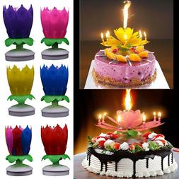 Cake Topper Blossom Musical Party Magic Birthday Candle Doub