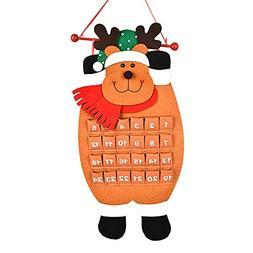Euone  Calendar, Old Man Snow Man Deer Calendar Advent Count