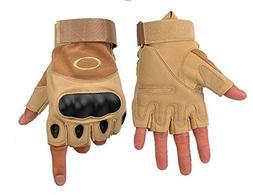 Camel Tactical Half Finger Gloves Fighting Men Outdoor Climb