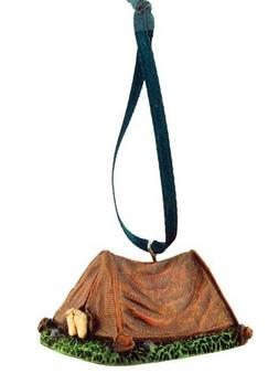 Camping Tent Figurine Ornament, 2-inch, Hanging Tree Decorat