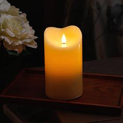 3D Flameless Led Candle With Timer, Moving Wick Pillar Candl