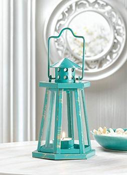 Candleholders Lanterns Aqua Lighthouse Mini Lantern Nautical