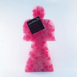 Candles Single Wick Pink Wax Chunks Angel Handmade Decorativ