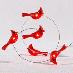 Impress Life Cardinal Lights, Red Snow Bird Decorative Ornam
