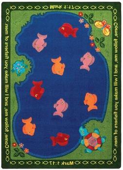 "Joy Carpets - Fishers of Men - 5'4"" x 7'8"" Oval"