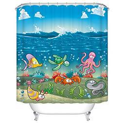 Cartoon Shower Curtain for Kids and Children by Goodbath,Und