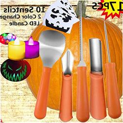 Professional Pumpkin Carving Kit– Heavy Duty Stainless Ste