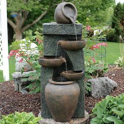 Sunnydaze Cascading Earthenware Pottery Stream Fountain, 39-