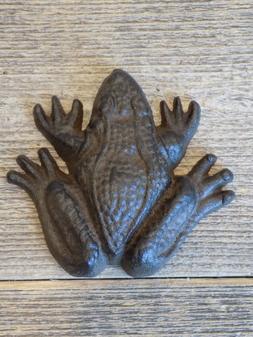 Cast Iron Frog Paper Weight Garden Yard Shelf Decor Figurine