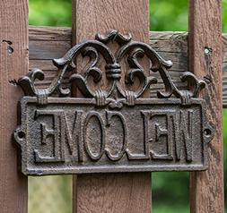 Comfify Welcome Sign for Door - Cast Iron Rustic Welcome Sig