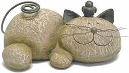 Cat Resin Figurine Yard Home Lawn Porch Garden Outdoor Sculp