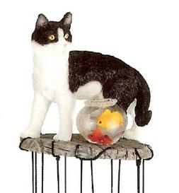 Cat Windchime Garden Decoration Collectible Fantasy Figurine