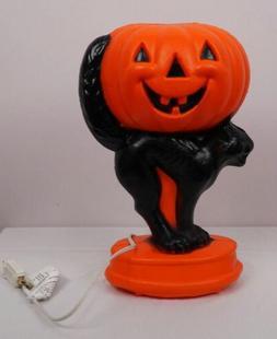 Cat with Pumpkin Tabletop Blow Mold General Foam Plastics 14