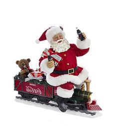"Kurt Adler CC5171 13"" Battery-Operated Coca-Cola Santa Train"