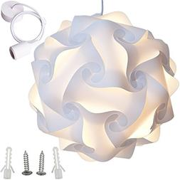 Lightingsky Ceiling Pendant DIY IQ Jigsaw Puzzle Lamp Shade