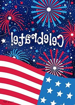 Celebrate Patriotic House Flag Fourth of July Fireworks USA