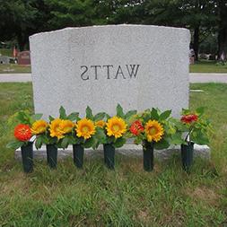 Evelots Set Of 6 Cemetery Grave Patriotic Memorial Veterans