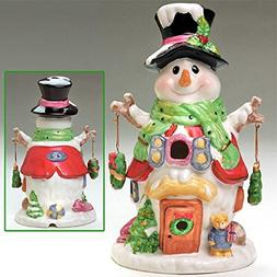 """Ceramic 11"""" Electric Snowman Christmas Down Home - NEW"""