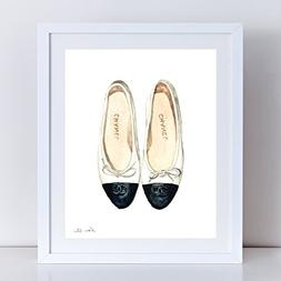 Chanel Ballet Flats Art Chanel Shoes Print Chanel Shoes Pain