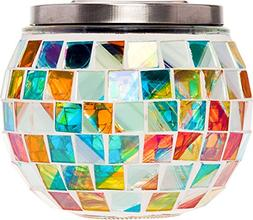 GreenLighting Color Changing Mosaic Solar Mason Jar Light -