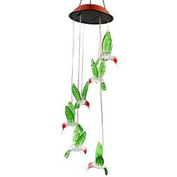 Color-Changing LED Solar Mobile Wind Chime, Bukm Solar Power