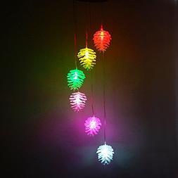 Color Changing Solar Power Wind Spinner Mobiles Light for Ho