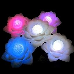 MATE Color Changing  Waterproof LED Floating Lotus Flower Ro
