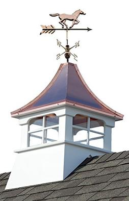 Accentua Charleston Cupola with Horse Weathervane, 24 in. Sq