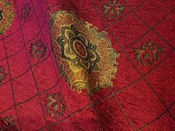 Chenille,Renaissance Medallion, Home Decor Upholstery, Sold