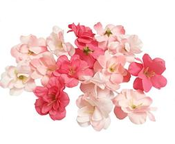 Cherry Blossom Flower Heads, 100pcs Colorfulife Artificial S