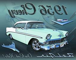 Chevy 1956 Bel Air Tin Sign 16 x 12in