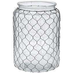 """Chicken Wire Vase 10 1/2""""H"""