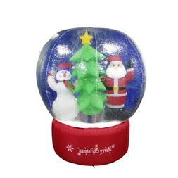 ALEKO CHID004 Inflatable LED Christmas Snow Globe with Merry