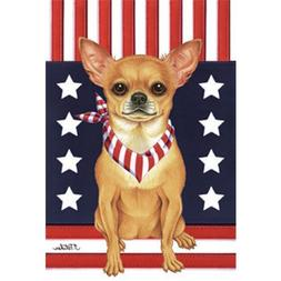 Chihuahua Patriotic Breed Garden Flag