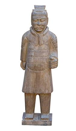 Chinese Stone Small Ancient Soldier Warrior Decor Figure Acs