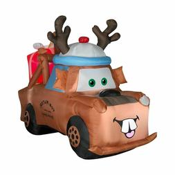 6' Airblown Lighted Mater with Reindeer Hat and Present 8521