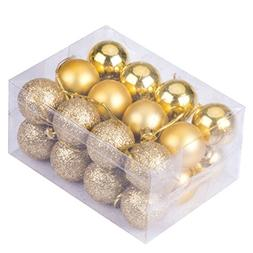 24Pcs Christmas Tree Decoration Ball Pendants Holiday Party
