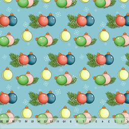 """Christmas Bubble Ornaments - Home Decor Fabric Polyester 62"""""""