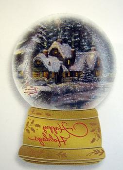 Hallmark Christmas Boxed Cards PX2682 Thomas Kinkade Snowglo